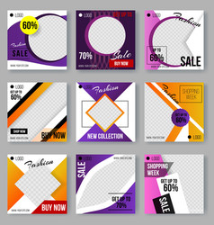 set of cover design layouts modern art style vector image