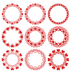 set round frames in modern and vintage style vector image