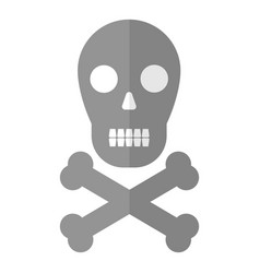 skull icon flat style vector image