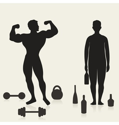 Sportsman and alcoholic vector image