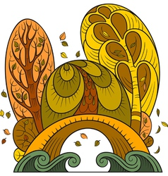 stylized autumn background vector image vector image