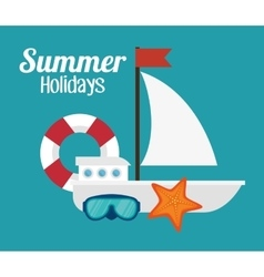 Summer vacations holiday poster vector