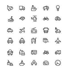 Transportation Icons 1 vector image