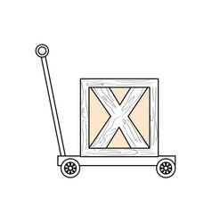 Trolley hydraulic jack vector