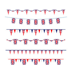 union jack flag banners set vector image