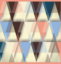 vintage geometric design can be used for cards vector image