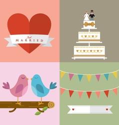Wedding accessories Set III vector image