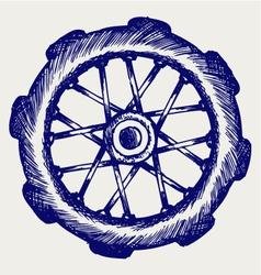 Wheel motorcycle vector image