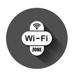 Wifi zone internet sign icon in flat style wi-fi vector