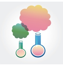 Abstract chemistry icons isolated on white vector image