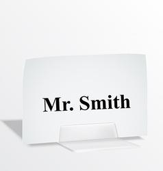 Acrylic card holder vector image