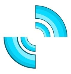 Blue click cursor icon cartoon style vector image