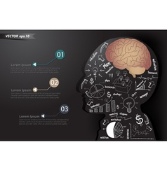 business strategy plan make brain in man think vector image vector image