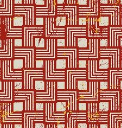 Vintage style geometric seamless background retro vector image