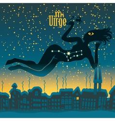 Virgo sign vector image