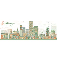 Abstract Santiago Chile Skyline vector image