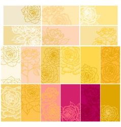 Collection of floral backgrounds with roses vector image vector image