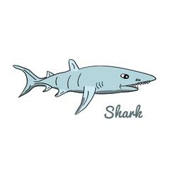Cute cartoon shark vector image