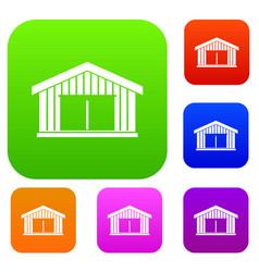 garage set collection vector image
