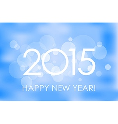 Happy New Year 2015 winter background vector image vector image