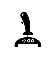 joystick icon black sign on vector image