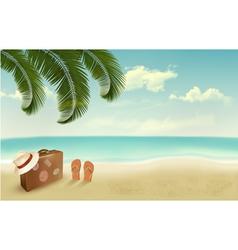 Retro summer vacation background vector image vector image