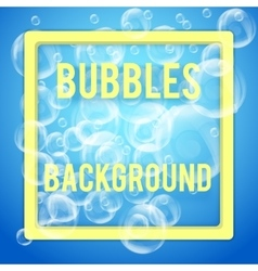 SPA aqua background with soap bubbles vector image vector image
