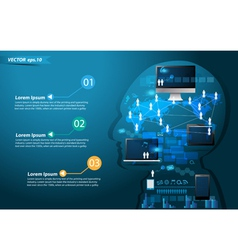Technology business concept idea make in man vector image