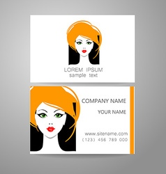Barber logo template identity card vector image vector image