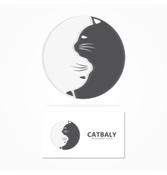cartoon cat logo Animal cat pets and shop vector image vector image
