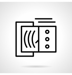 Devices tester black line icon vector image vector image