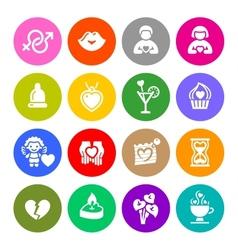 Set valentines day buttons love romantic symbols vector image