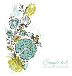 Beautiful floral background - retro flowers vector