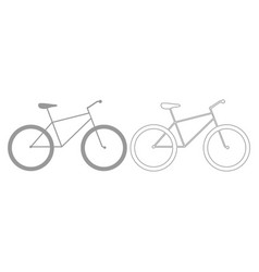 bicycle grey set icon vector image vector image