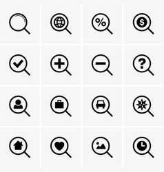 search icons vector image