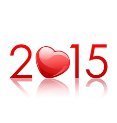 2015 New Year background with heart vector
