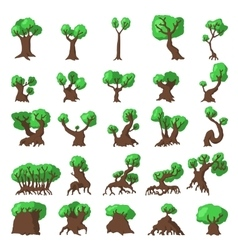 25 Trees set vector image