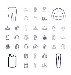 37 casual icons vector