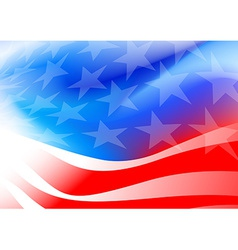 Abstract American flag on a white background vector image