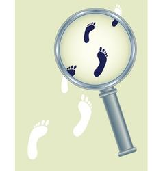 abstract footprints vector image