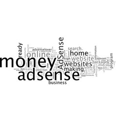 Adsenselover make money at home with adsenselover vector