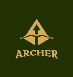 Archer symbol letter a initial vector