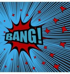 Bang comic cartoon vector