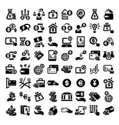 big finance icons set vector image vector image