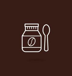 Bottle coffee bean icon vector