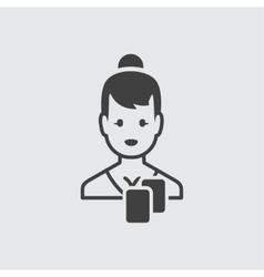 Casino girl icon vector image vector image