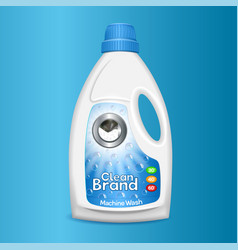 clean wash bottle icon realistic style vector image