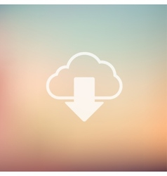 Cloud download in flat style icon vector image