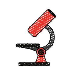 Color crayon stripe image cartoon red microscope vector