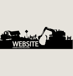 Construction vehicles and workers vector